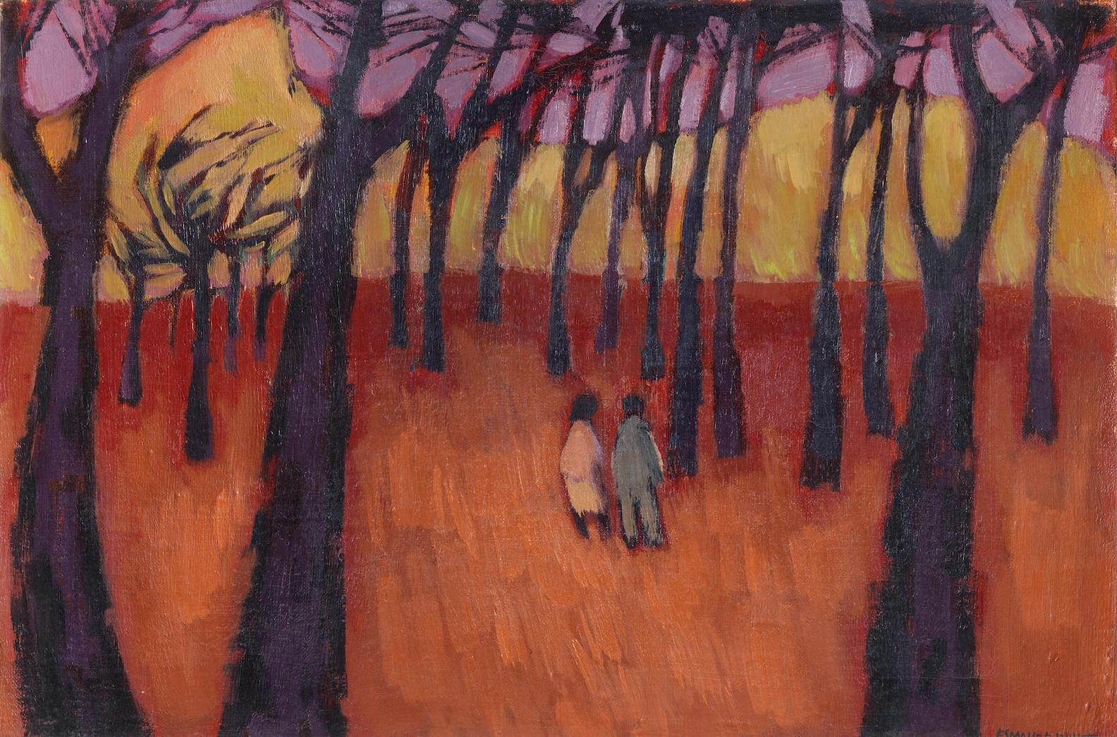 Eleanor Esmonde-White - Two Figures In A Wooded Landscape-