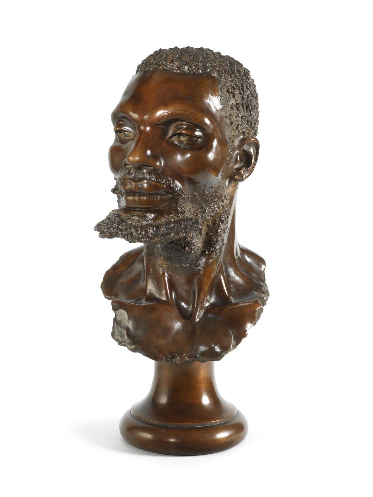 Anton van Wouw-Bust Of A Zulu-