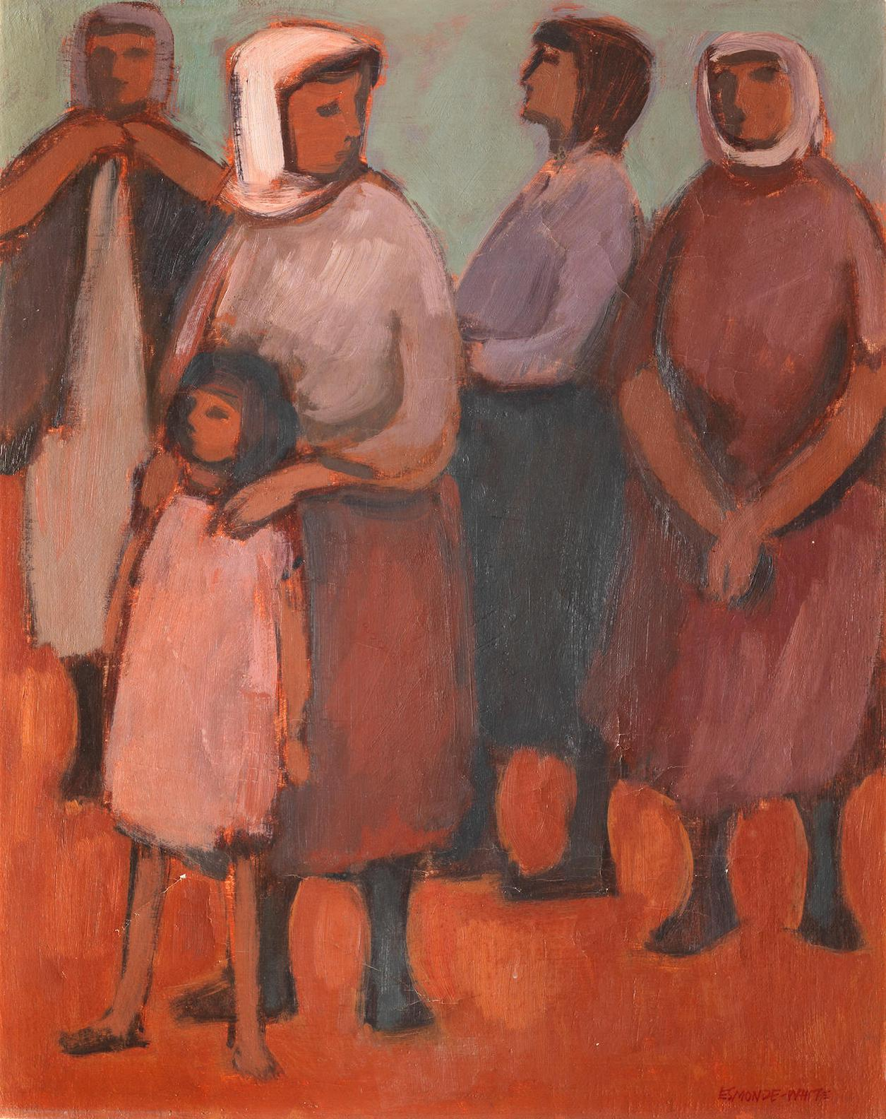 Eleanor Esmonde-White - Four Women And Girl, Corfu-