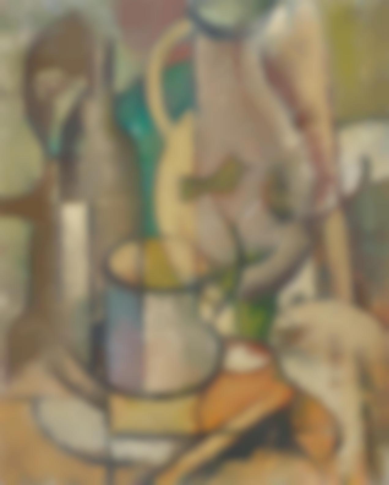 Gregoire Johannes Boonzaier - Cubist Still Life With Jug-1947