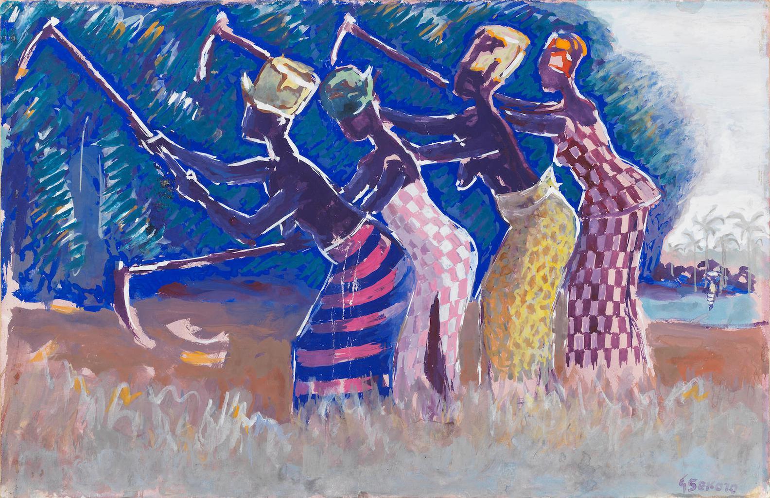 Gerard Sekoto - African Harvesters-