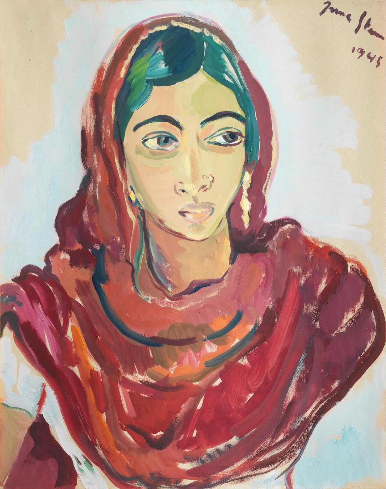 Irma Stern-Portrait Of An Indian Woman-1945