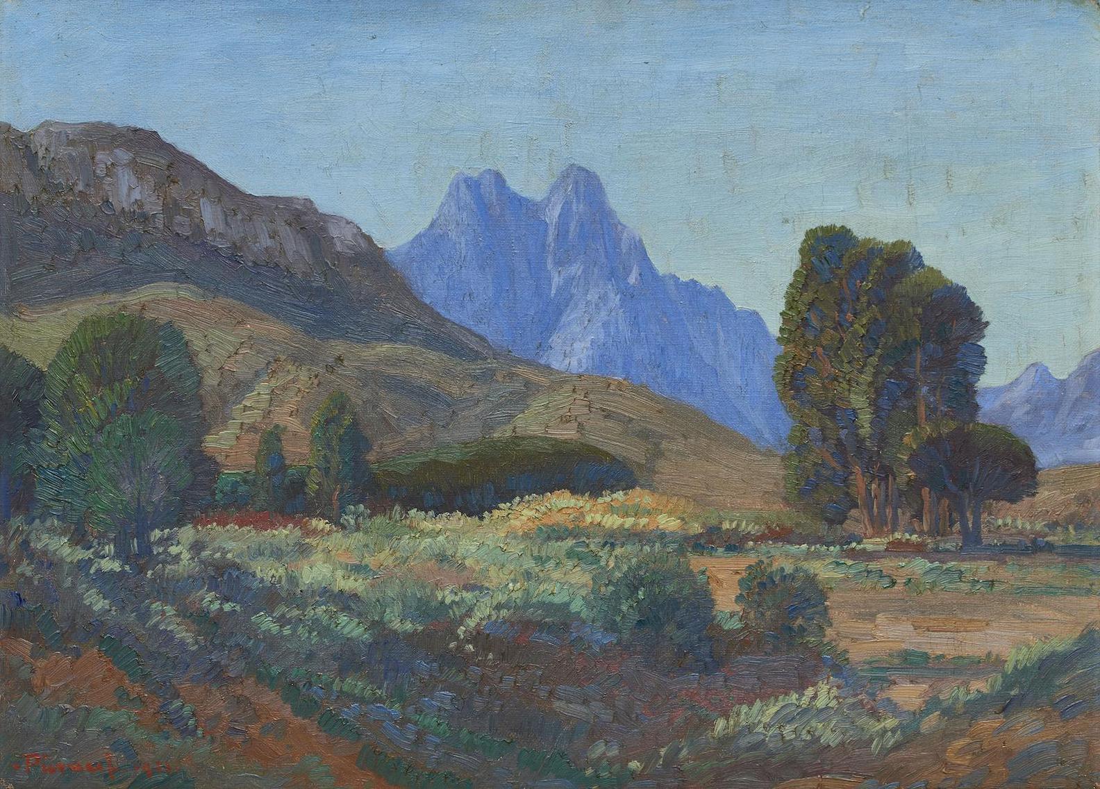 Jacob Hendrik Pierneef - Jonkershoek, Stellenbosch-1921