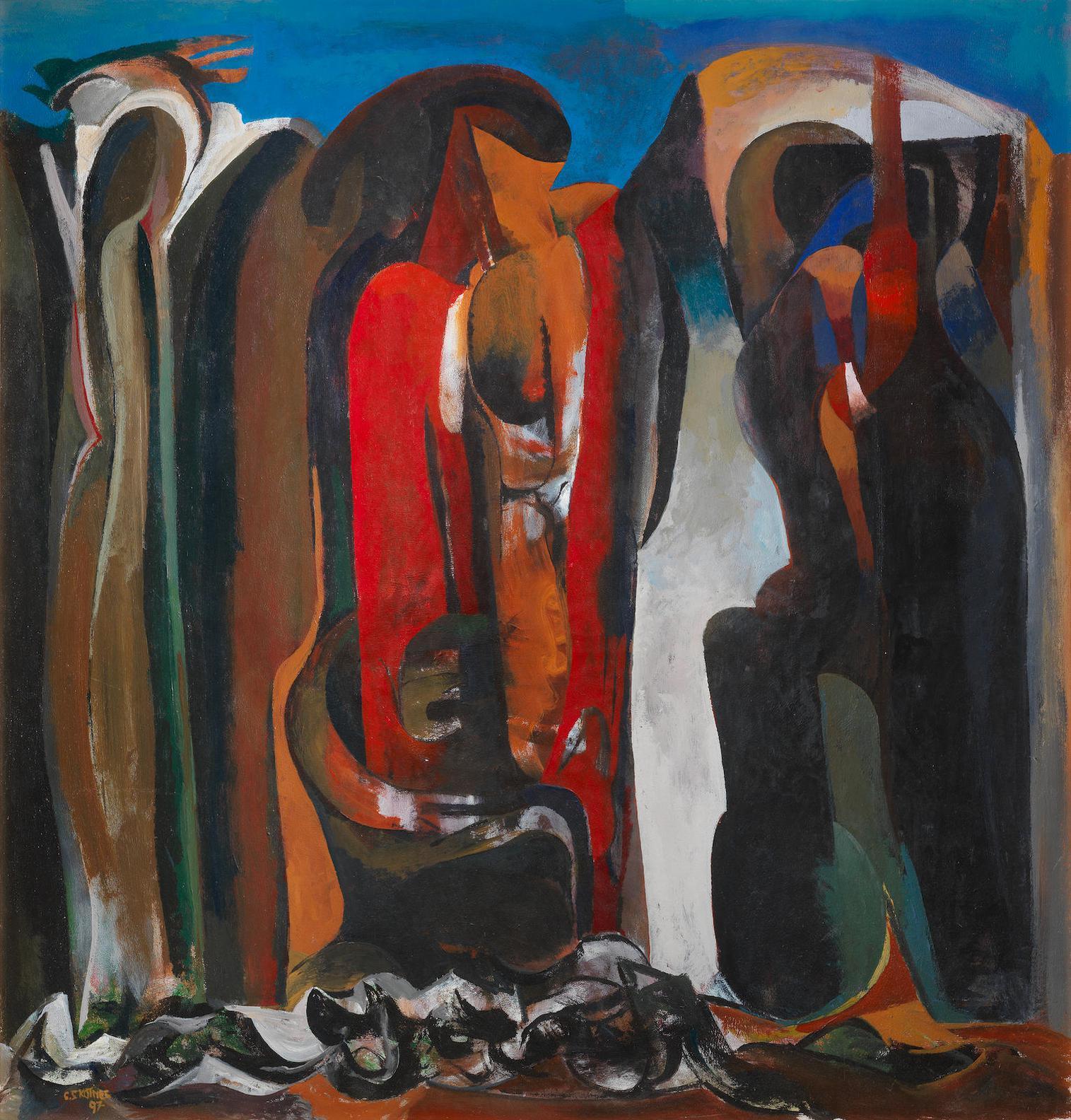 Cecil Edwin Frans Skotnes - Ravine Wall-1997