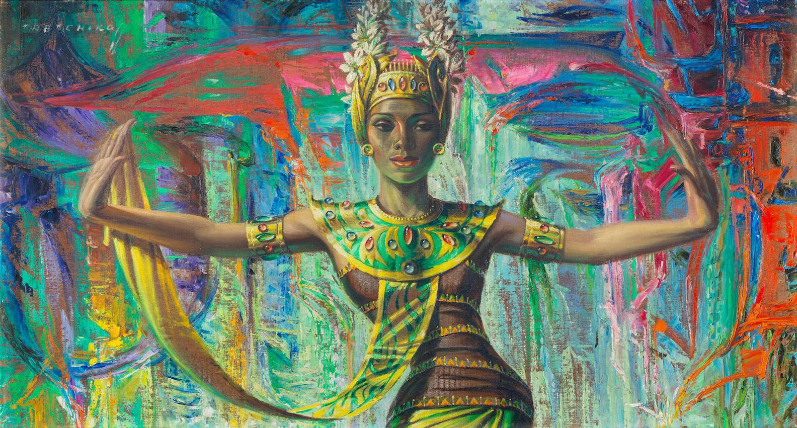 Vladimir Griegorovich Tretchikoff - Balinese Dancer-