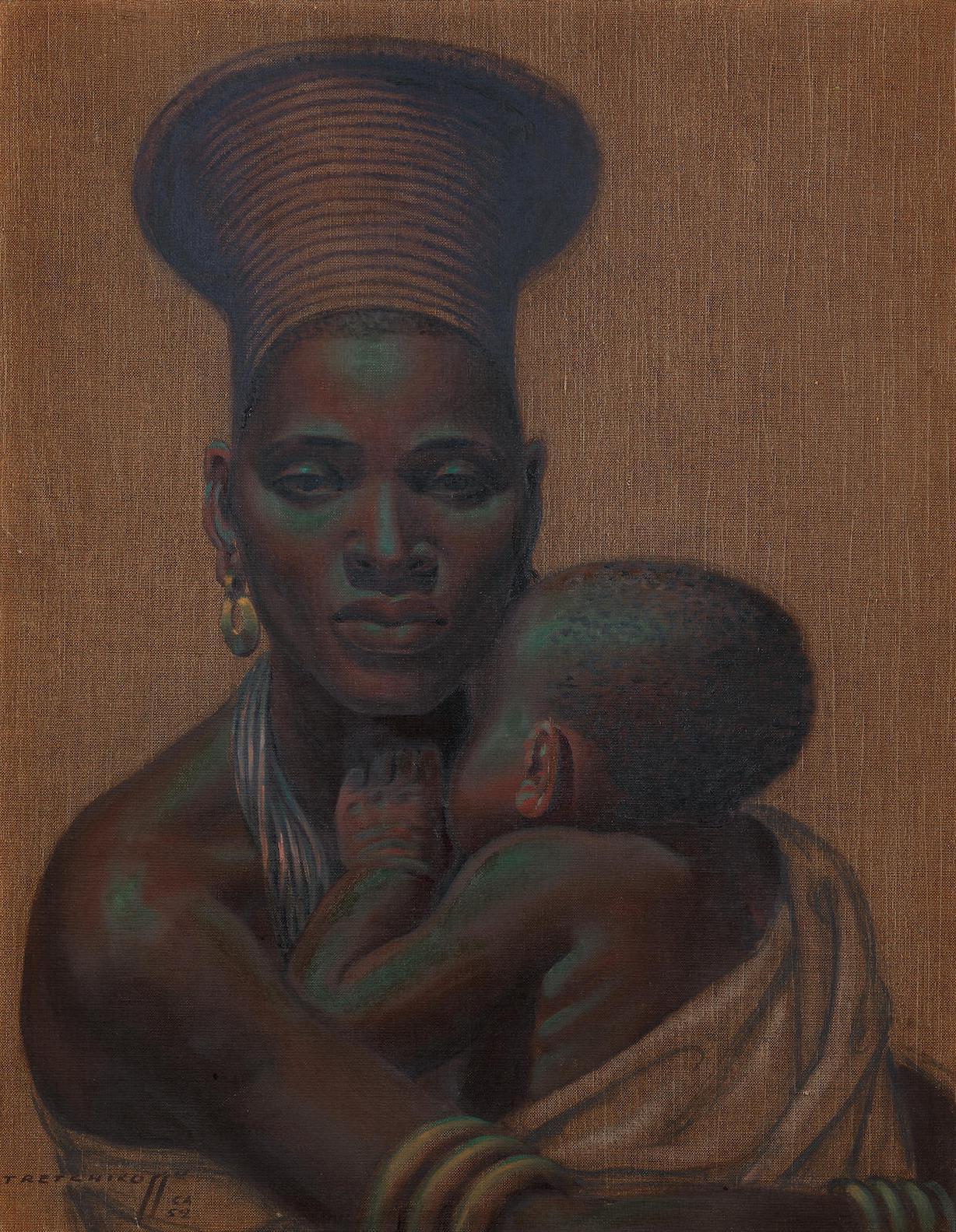 Vladimir Griegorovich Tretchikoff - African Madonna-1952