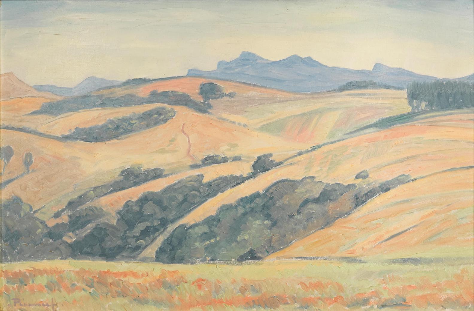 Jacob Hendrik Pierneef - Karoo Landscape-