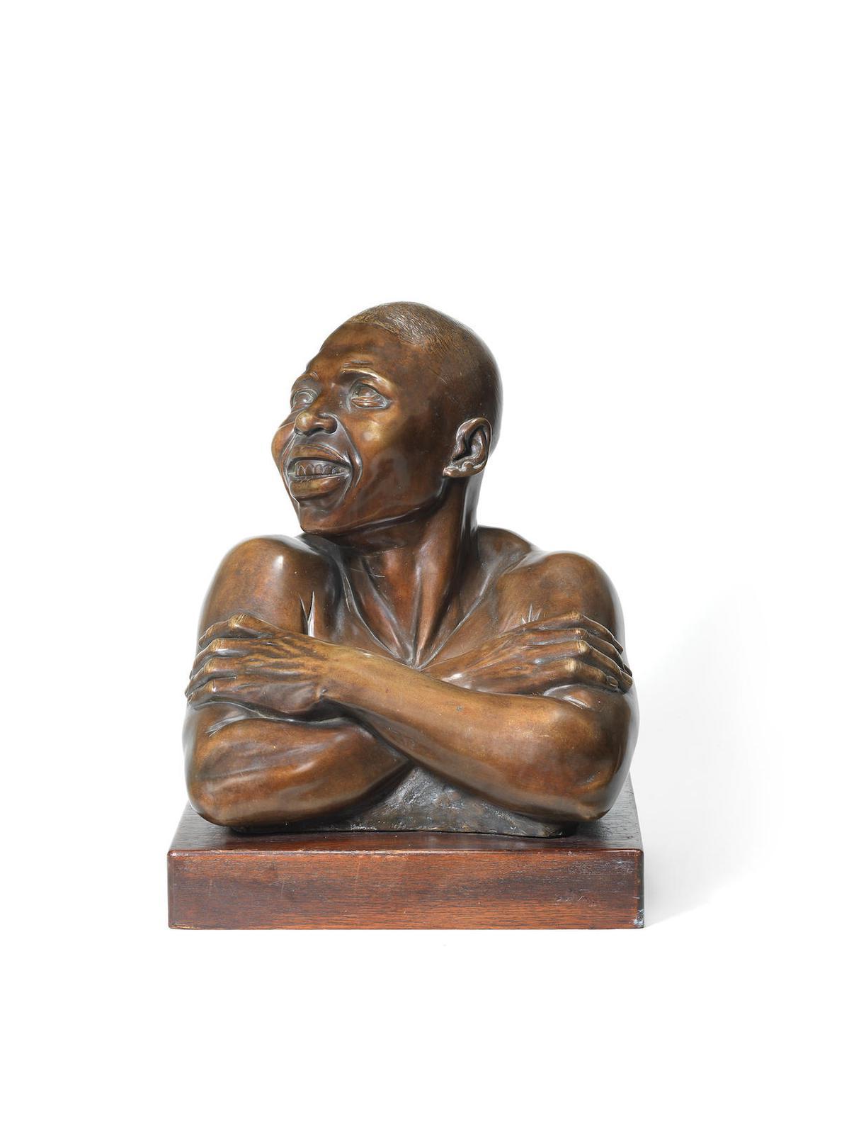 Anton van Wouw-Laughing Basuto-1936