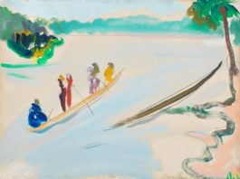 Irma Stern-Canoes On The Congo
