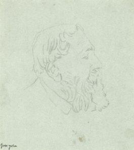 Gwen John - Portrait Of Auguste Rodin-1910