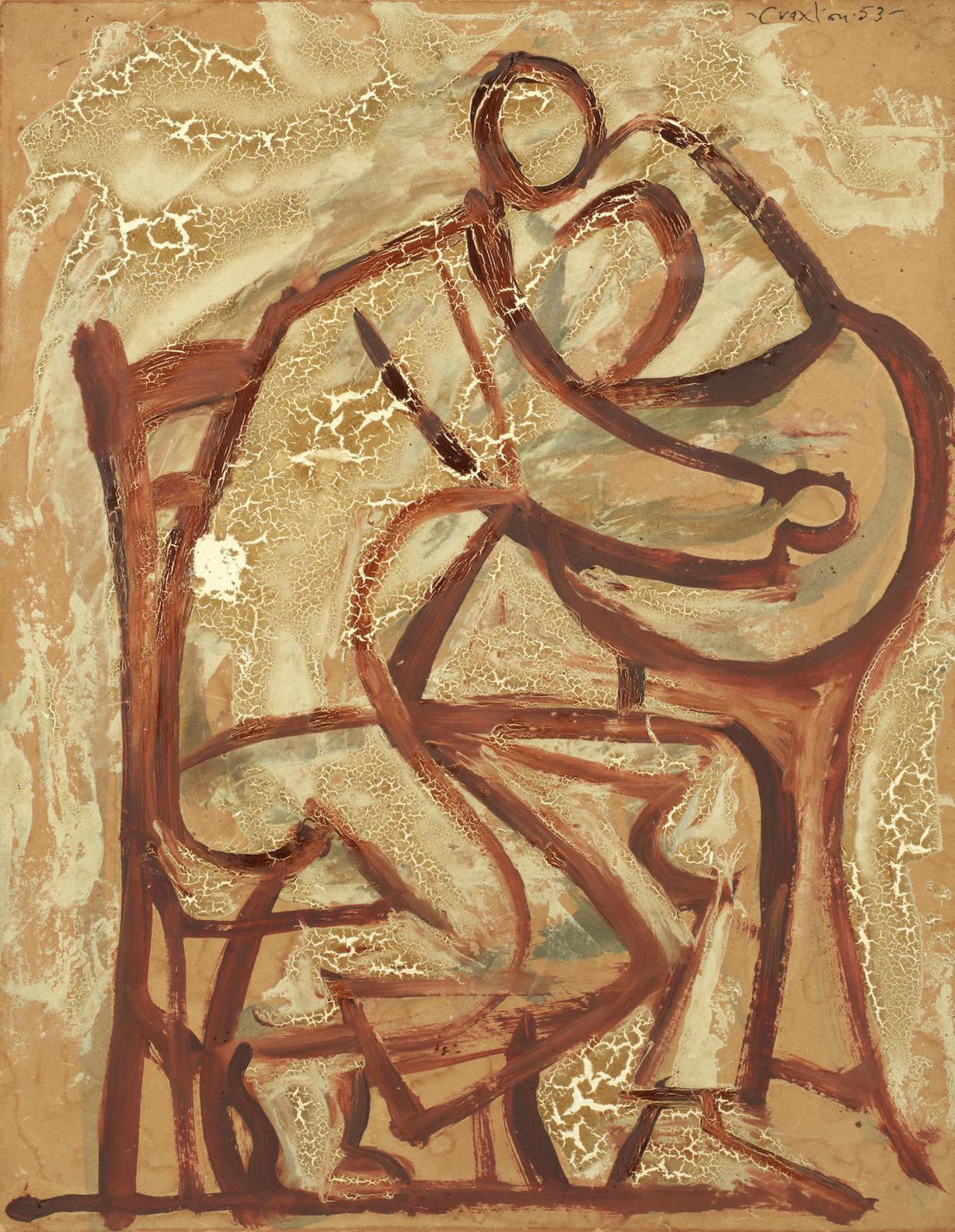 John Craxton - Study For Boy In Taverna-1953