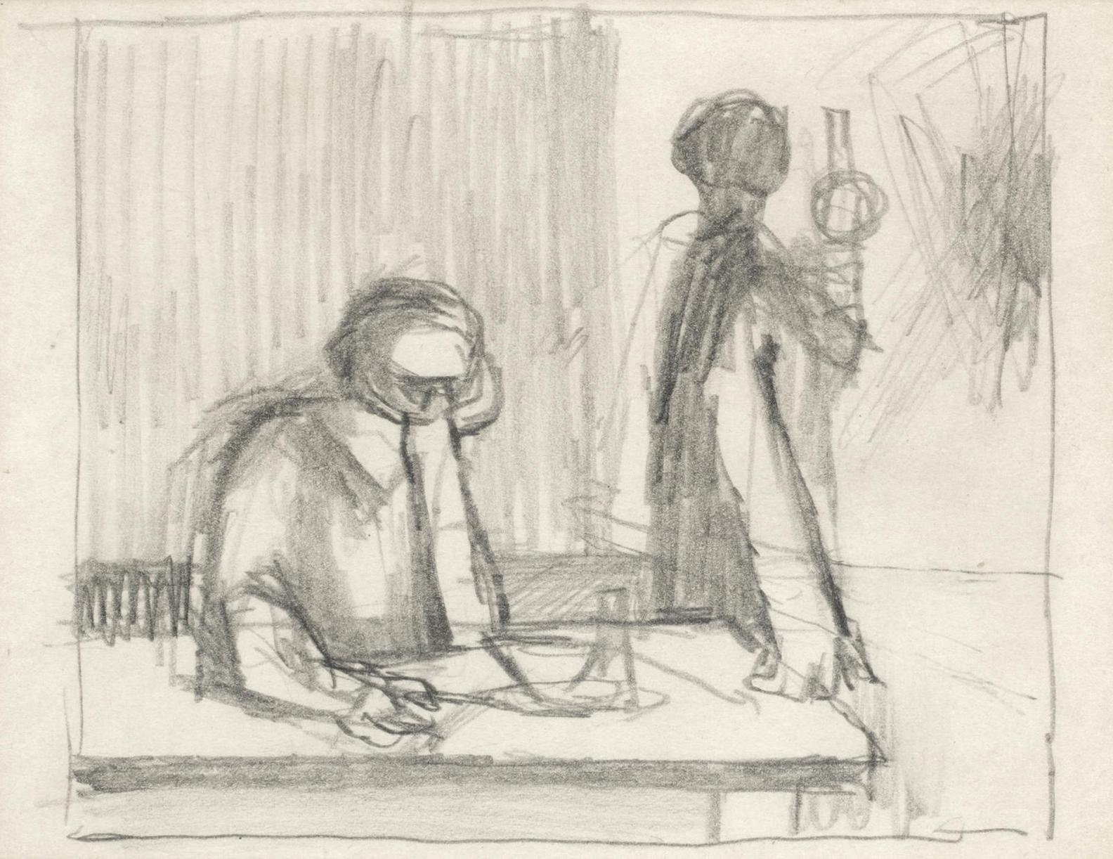 Keith Vaughan - Figures At A Table-