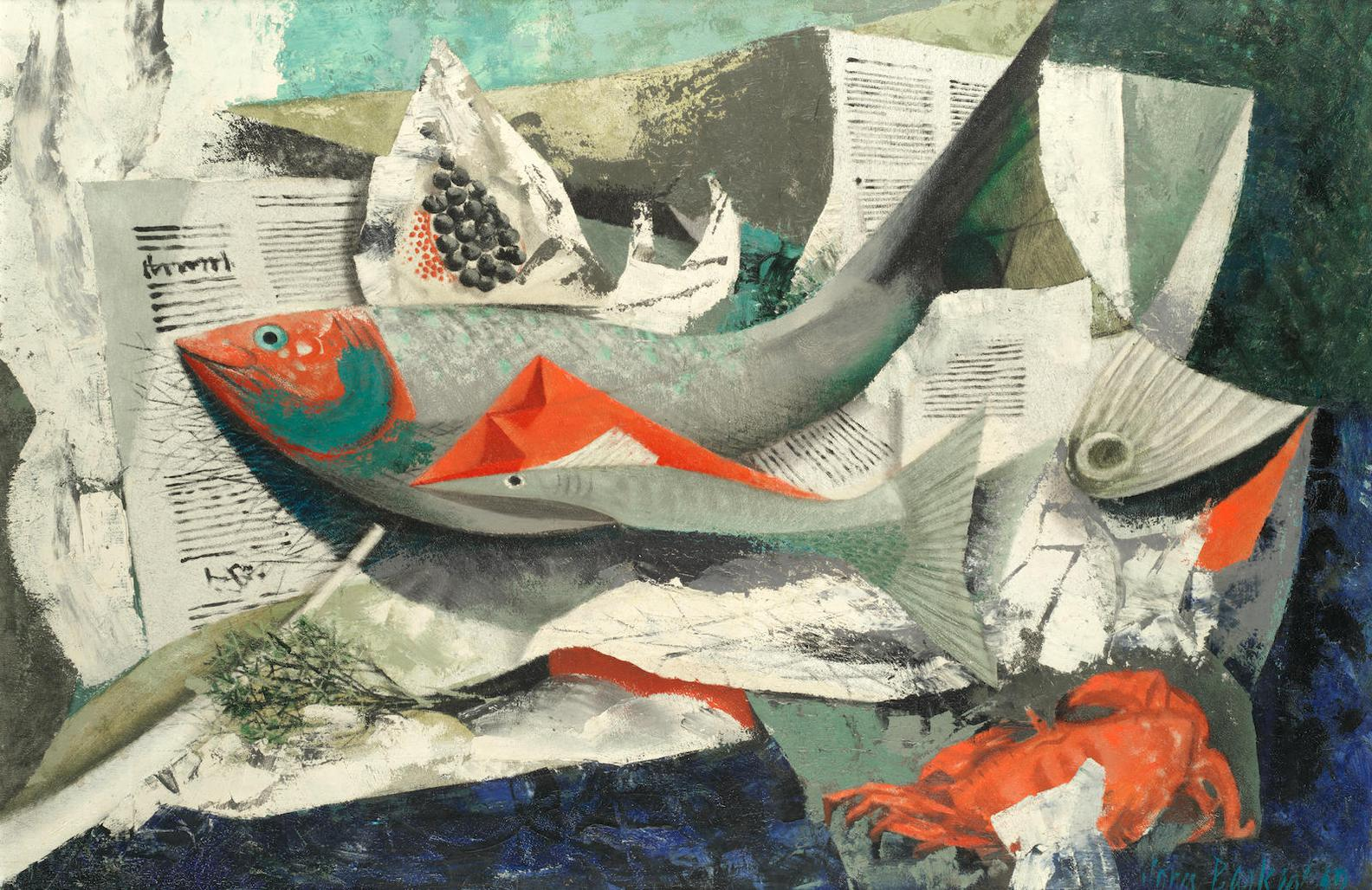 John Rowland Barker - Fish Shop-1949