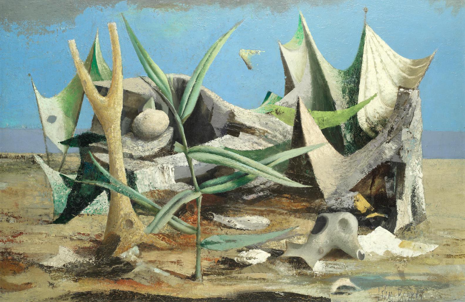 John Rowland Barker - Surrealist Composition In A Landscape-