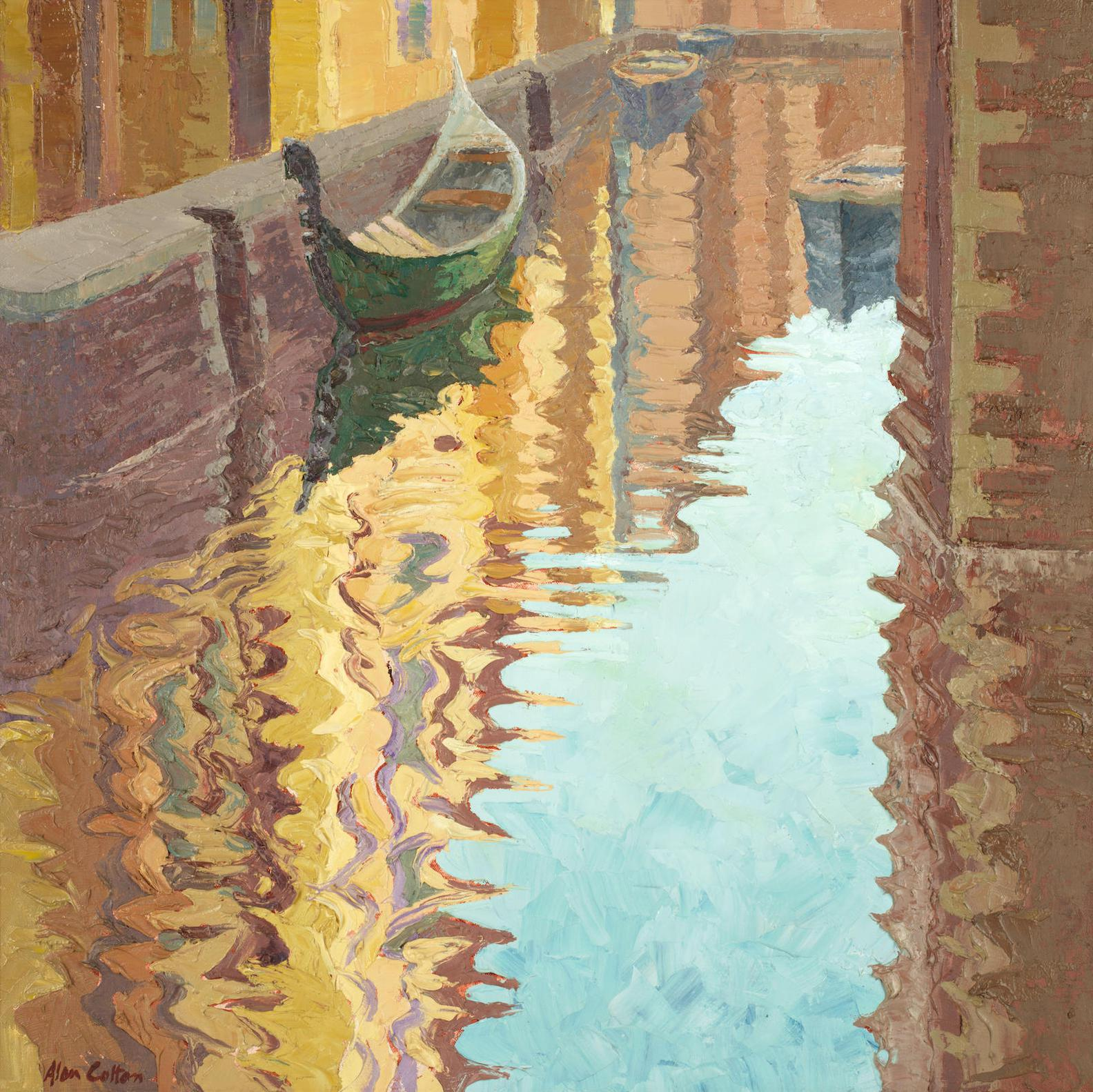 Alan Cotton - Venice - Moored Gondola In Accademia-