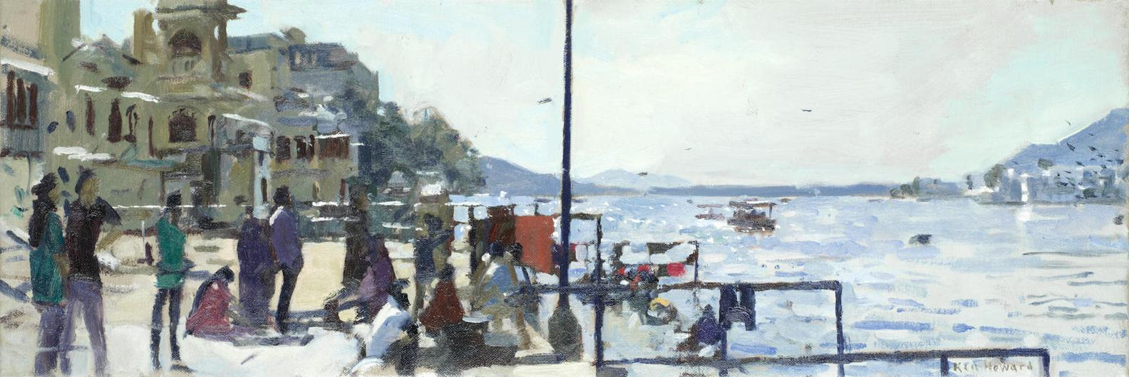 Ken Howard - Waiting At The Pier, Italy-