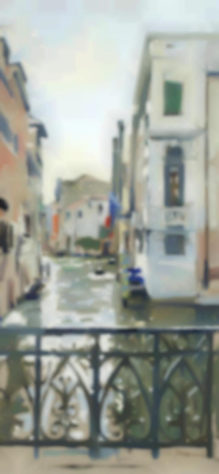 Ken Howard - Balcony Overlooking The Canal, Venice-