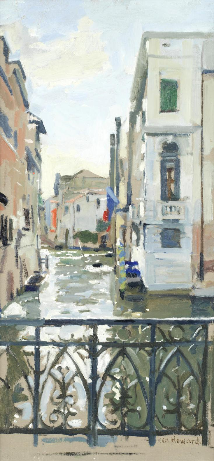Ken Howard - Balcony Overlooking The Canal, Venice-