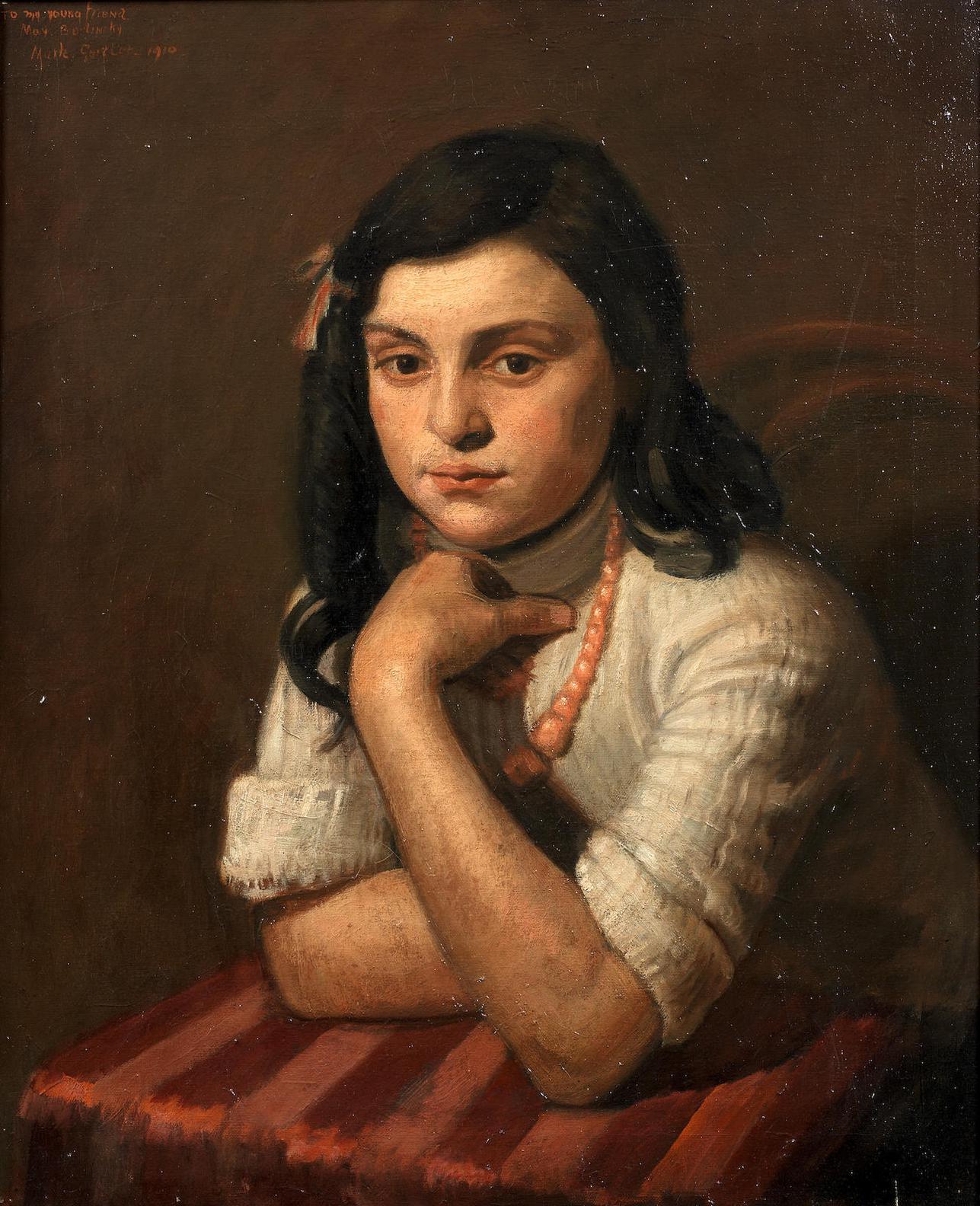 Mark Gertler - Portrait Of May Berlinsky-1910