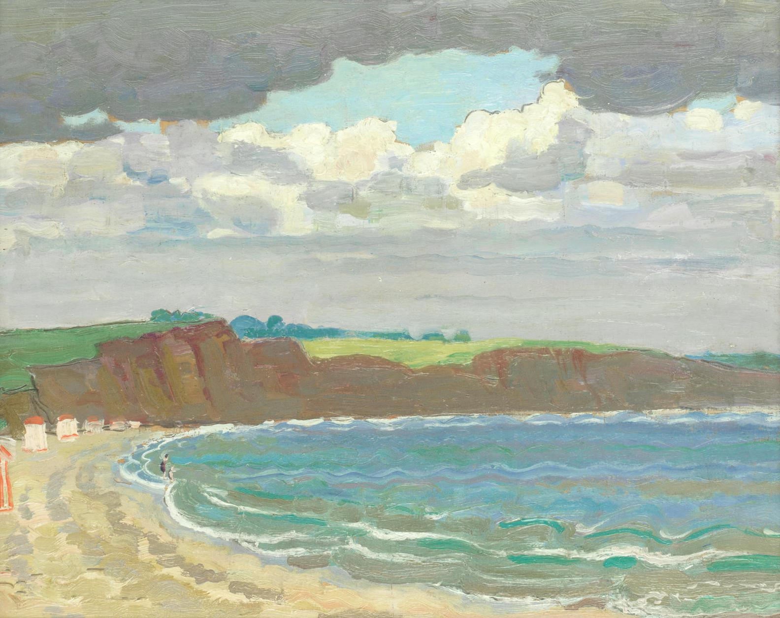 Adrian Paul Allinson - Beach Scene-