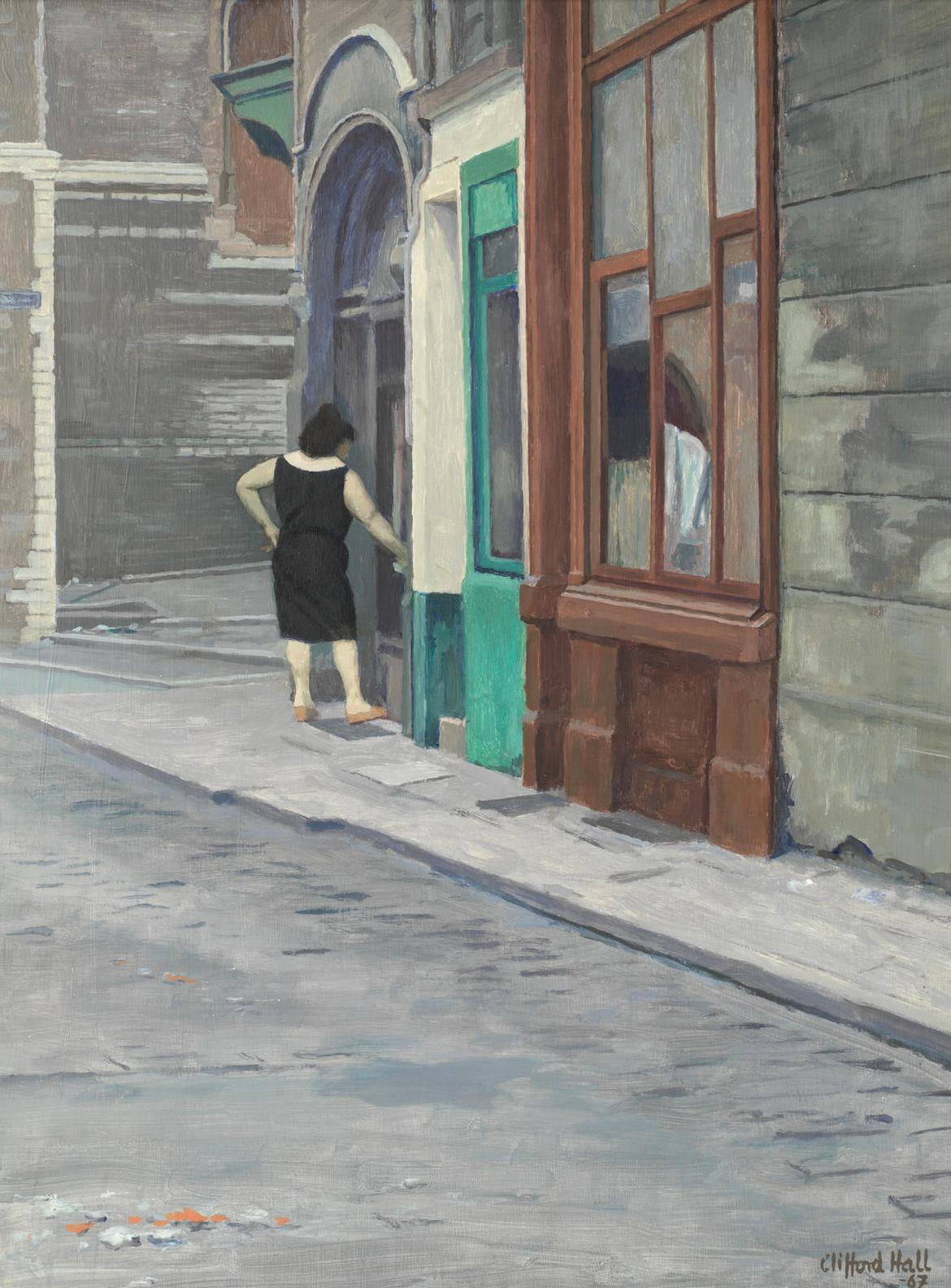 Clifford Hall - Street Scene-1967
