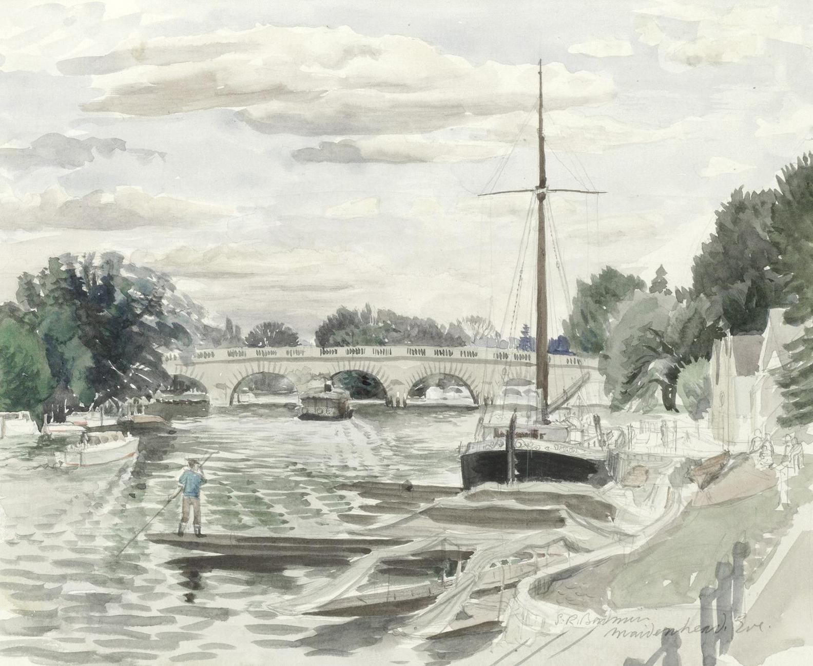 Stanley Roy Badmin - Evening On The Thames, Maidenhead-