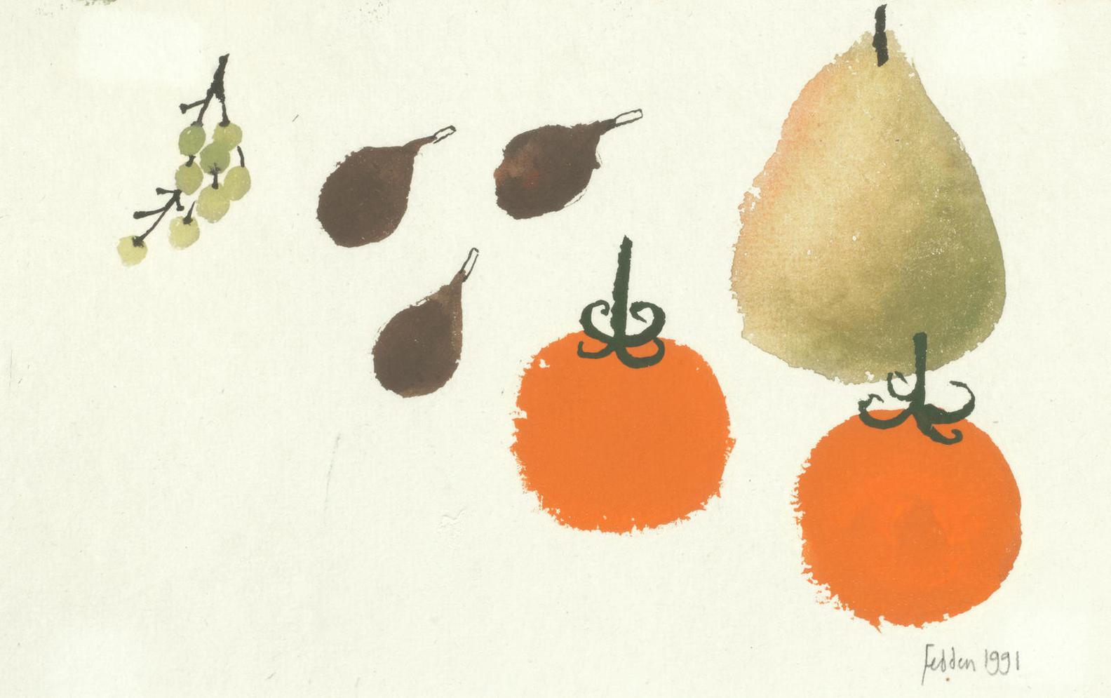 Mary Fedden - Fruit-1991