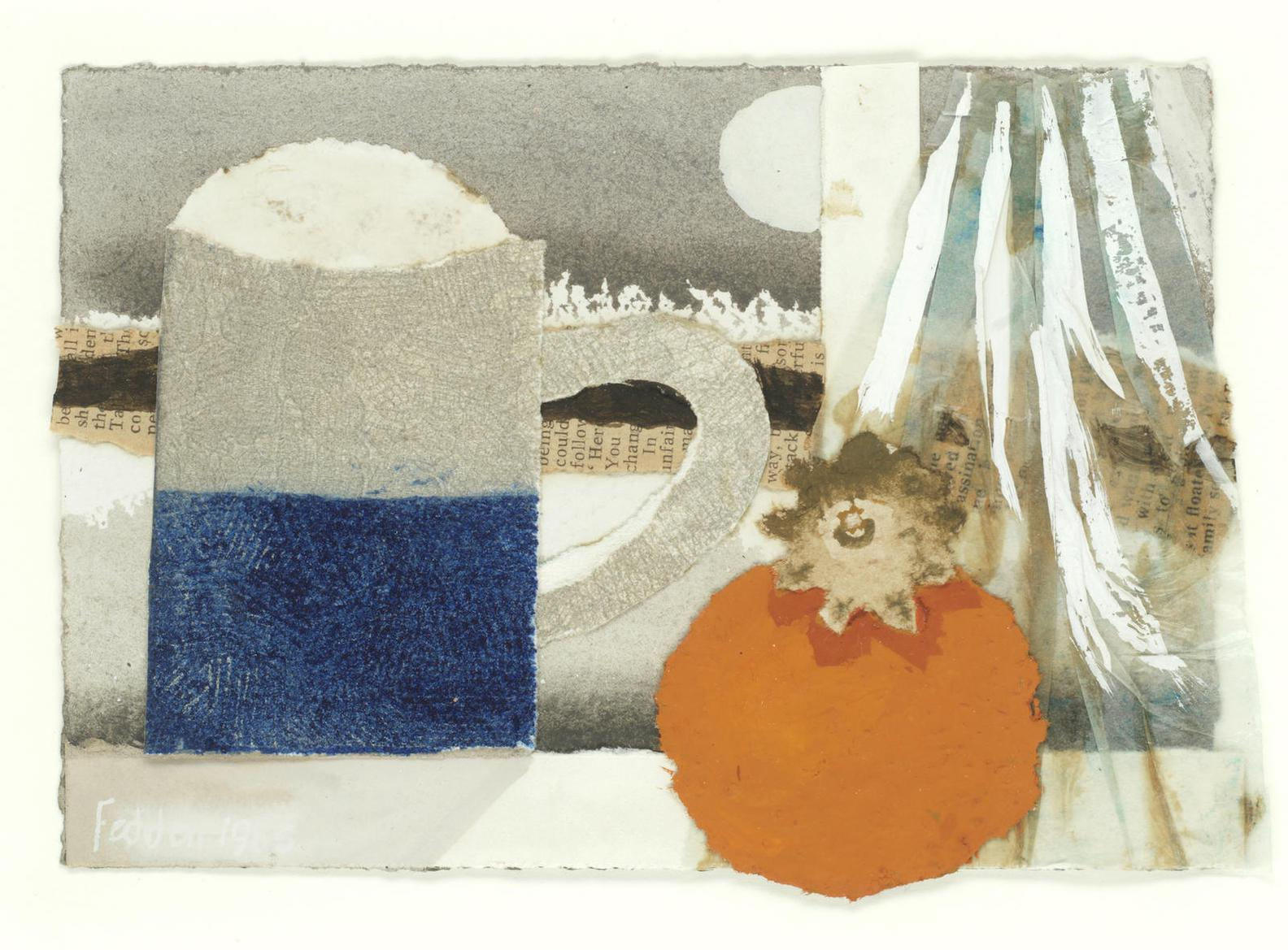 Mary Fedden - Mug And Persimmon-1985
