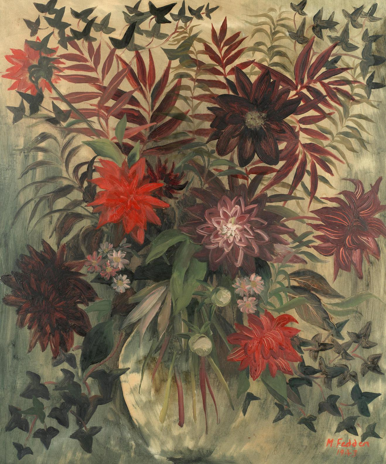 Mary Fedden - Josephines Flowers-1943