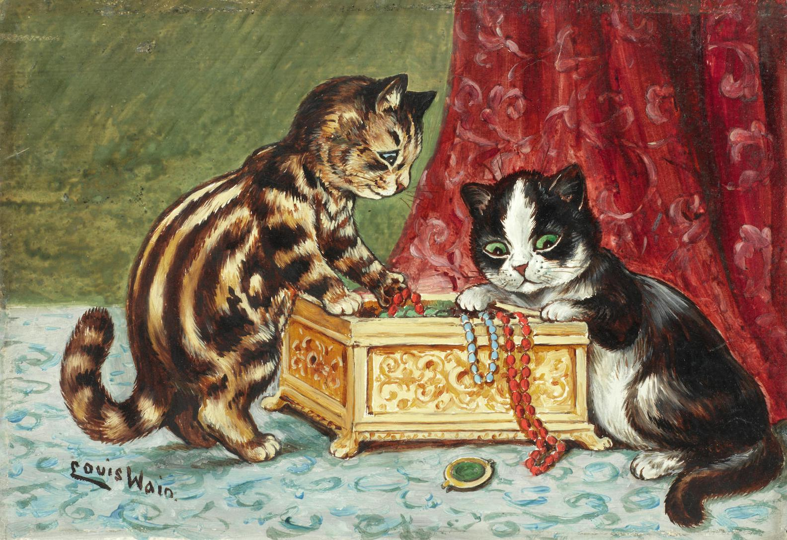 Louis William Wain - Treasure Kittens-