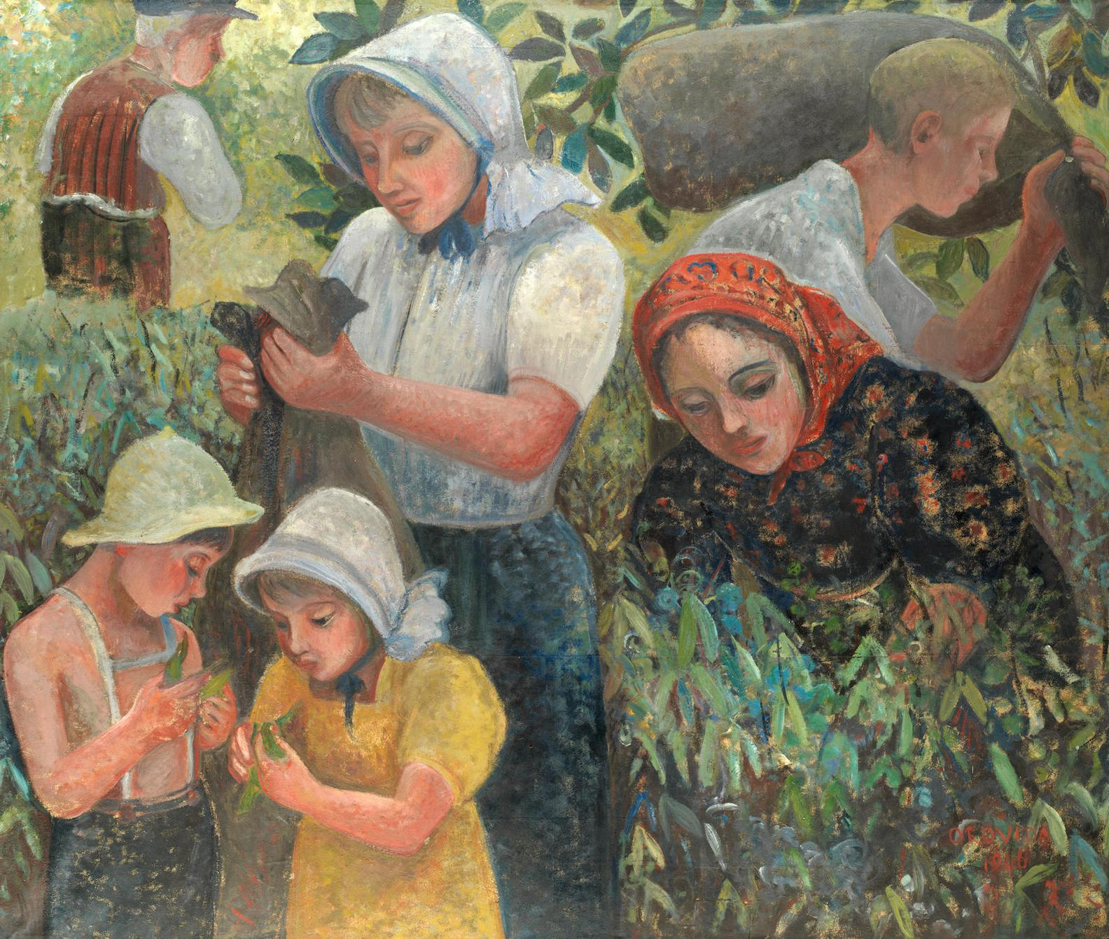 Orovida Camille Pissarro - Summer - Picking Peas-1946