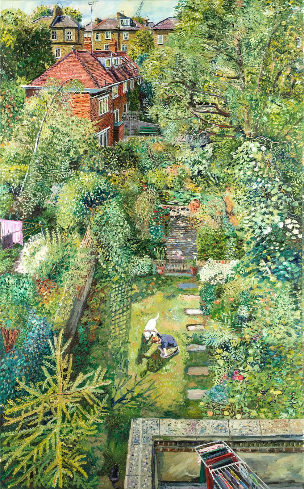 Melissa Scott-Miller - Garden With White Dog-2016