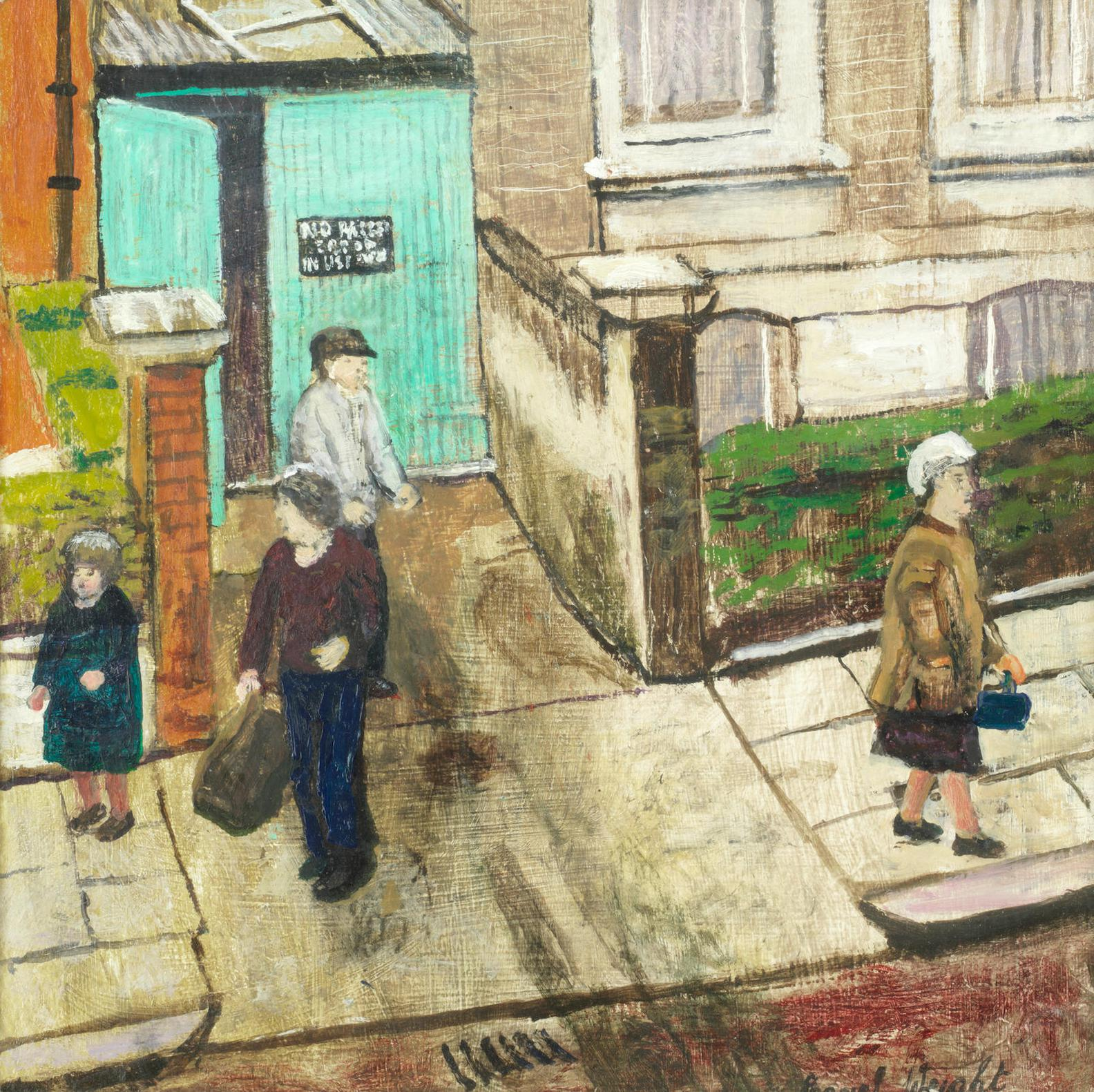 Carel Weight - Street Scene With Figures-