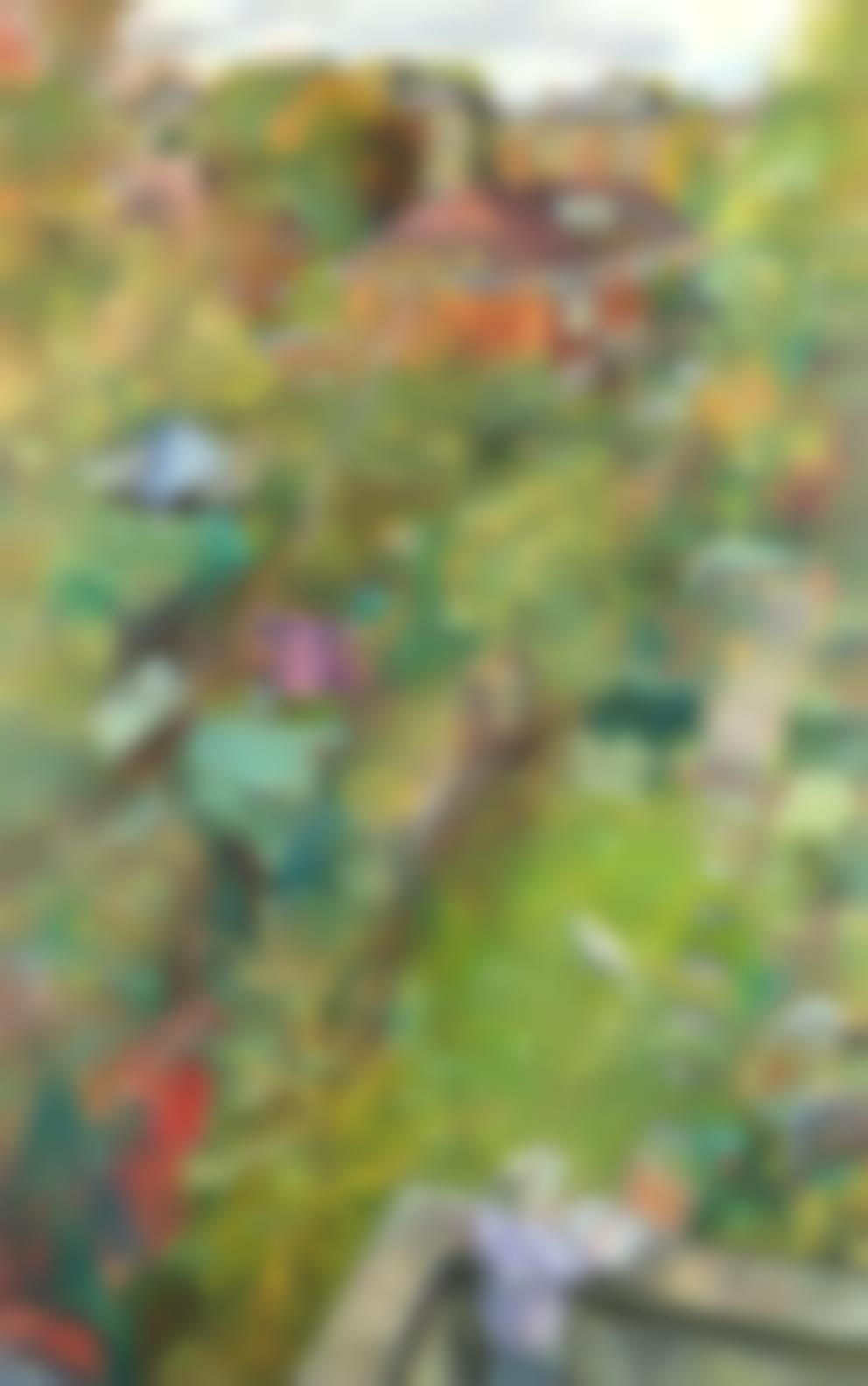 Melissa Scott-Miller - Back Gardens In Autumn, Islington-