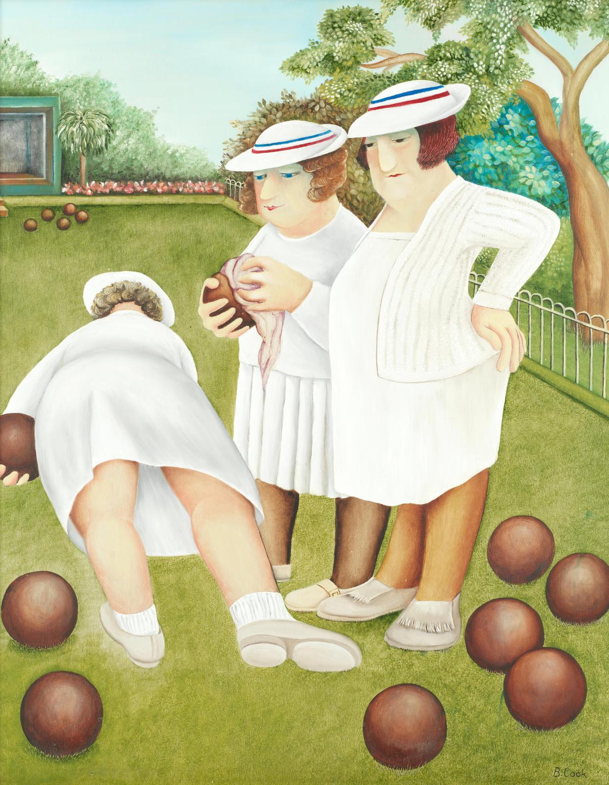 Beryl Cook - Bowling Ladies-1981