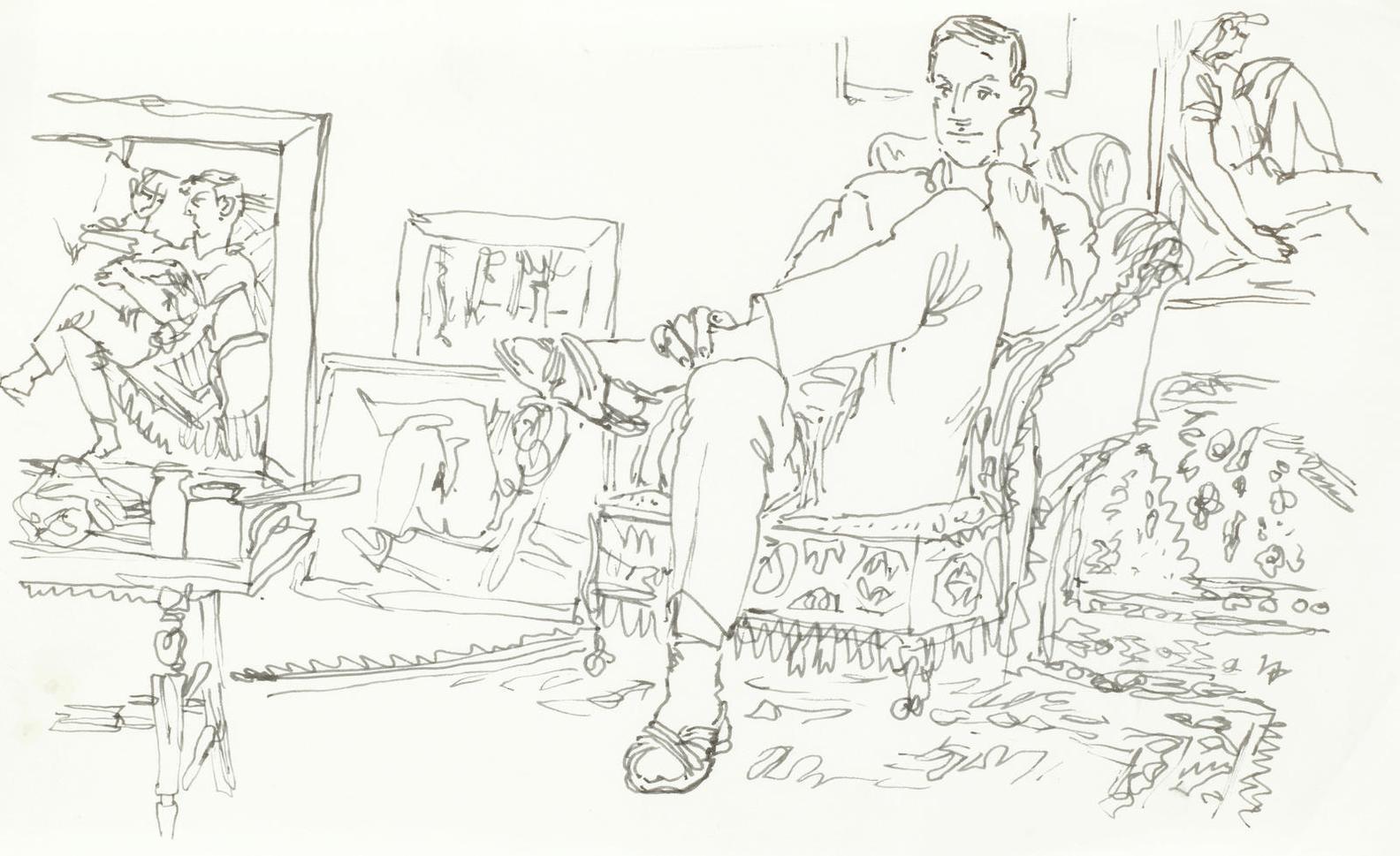 Peter Samuelson - Man In Armchair-