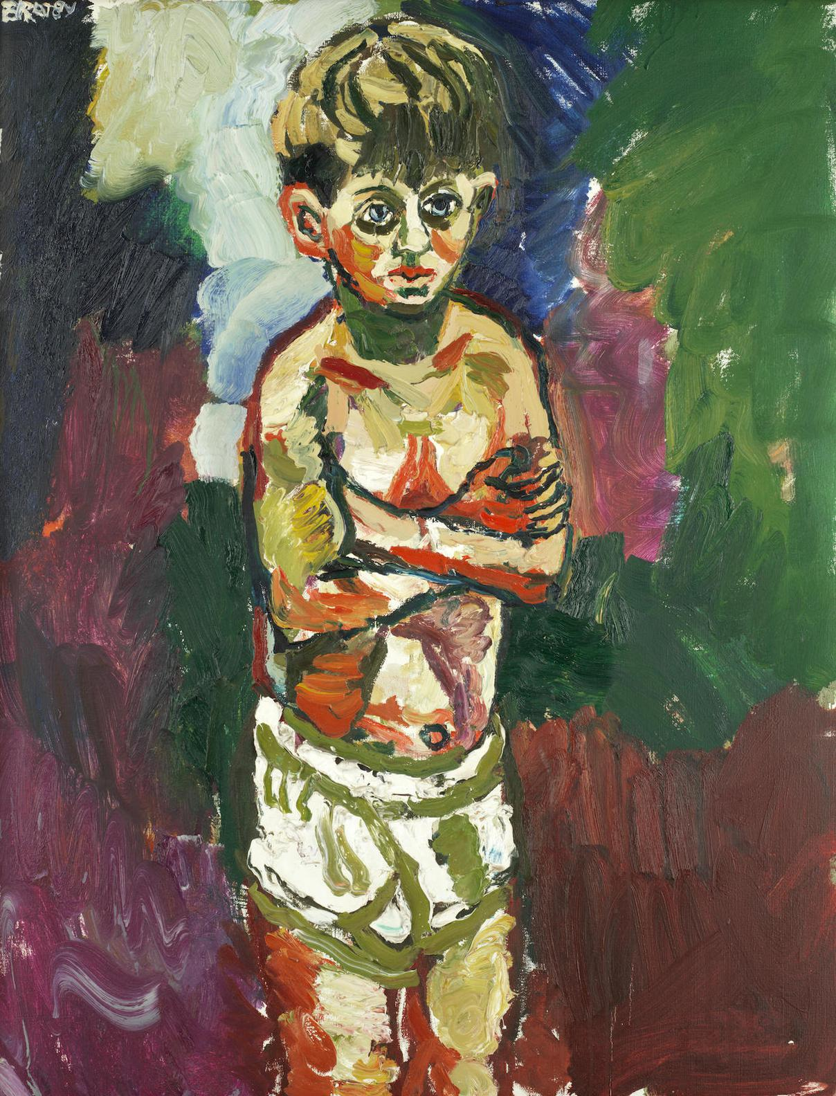 John Bratby - Jason In Underpants-
