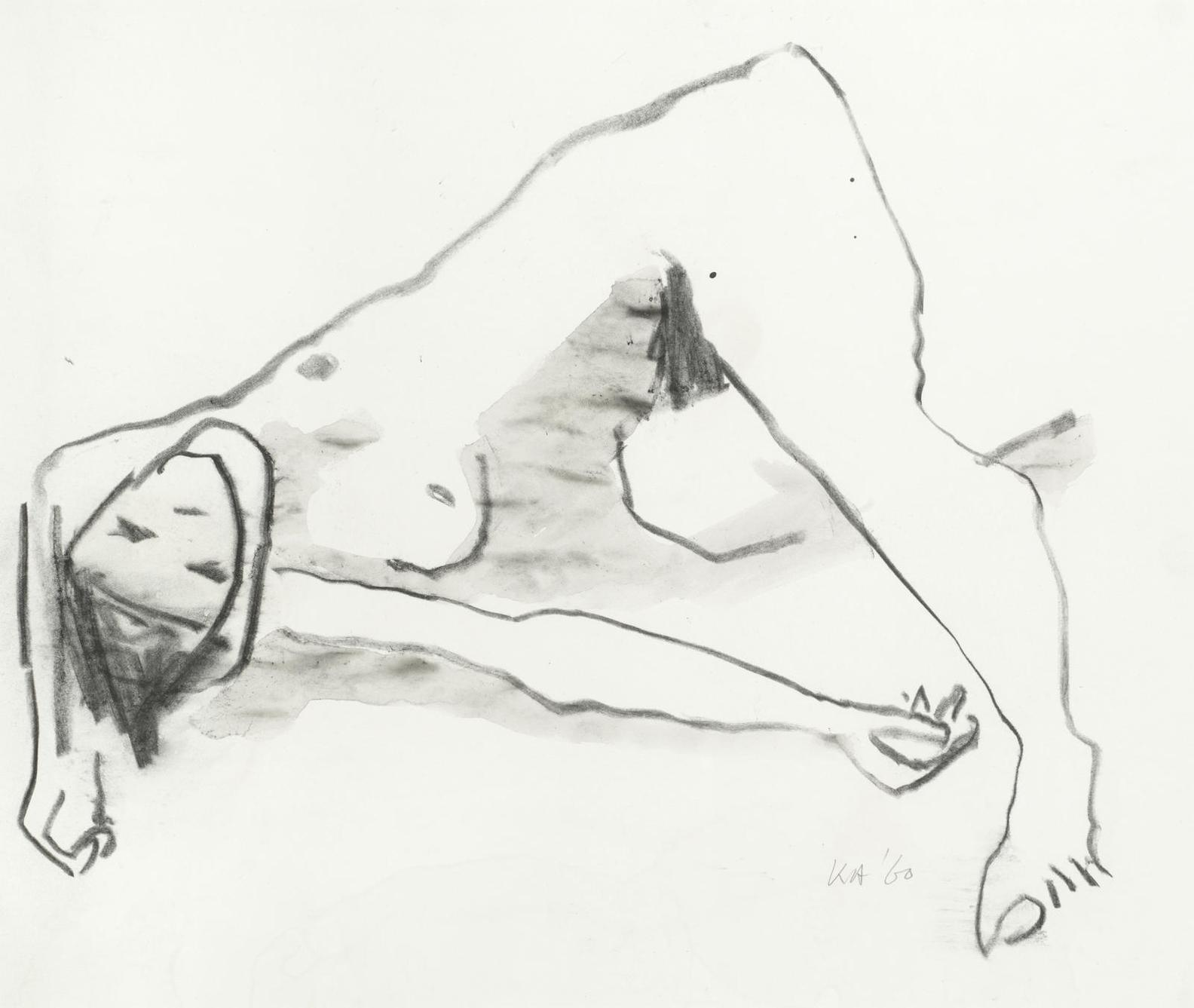 Kenneth Armitage - Reclining Female Nude-1960