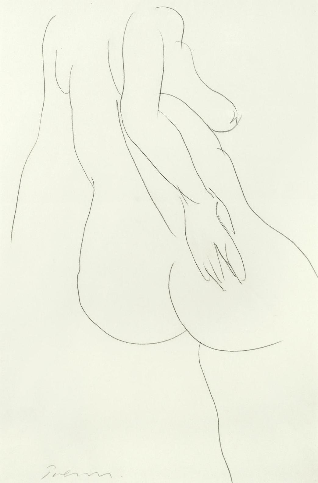 William Turnbull - Female Nude-