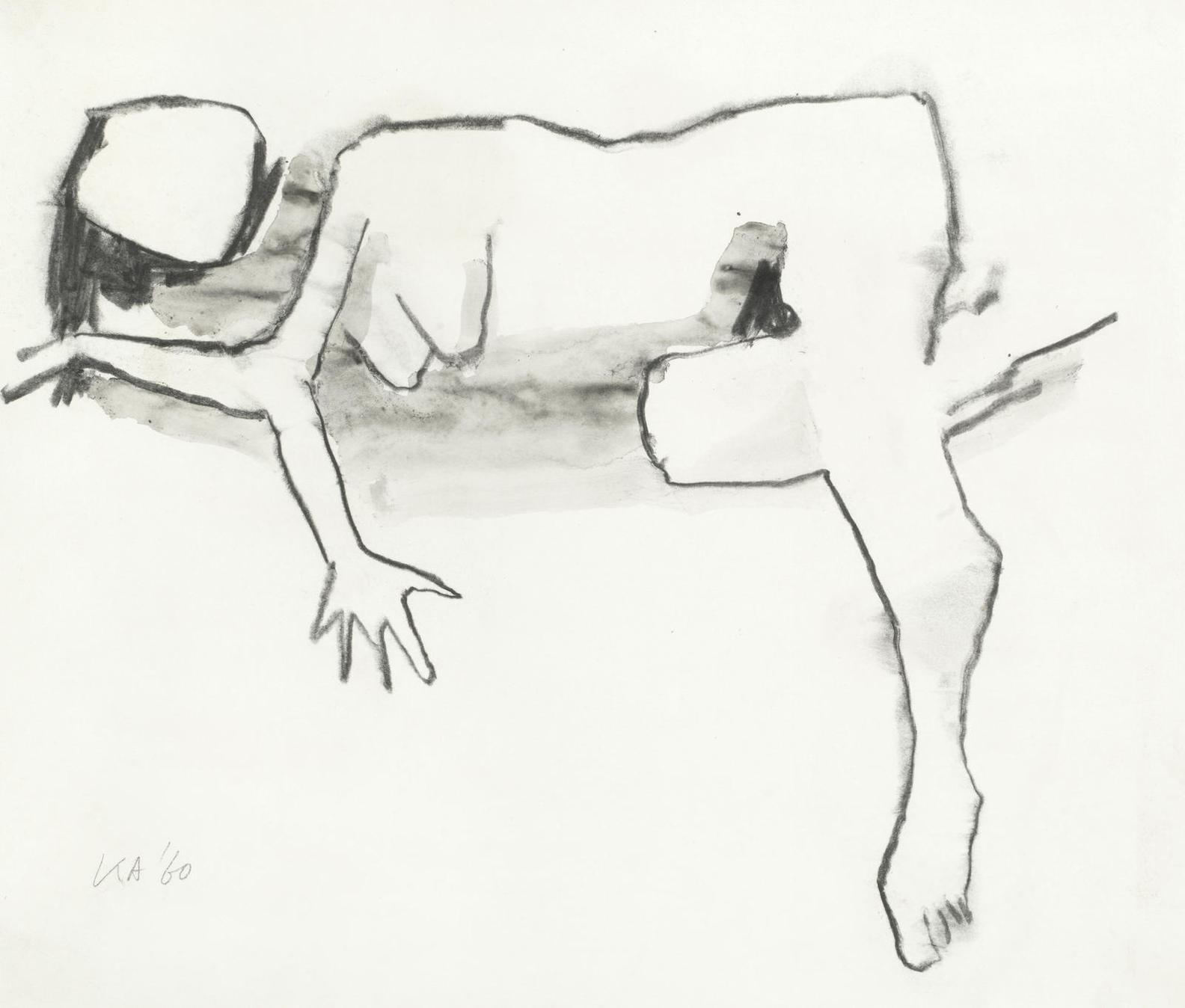 Kenneth Armitage - Sleeping Female Nude-1960