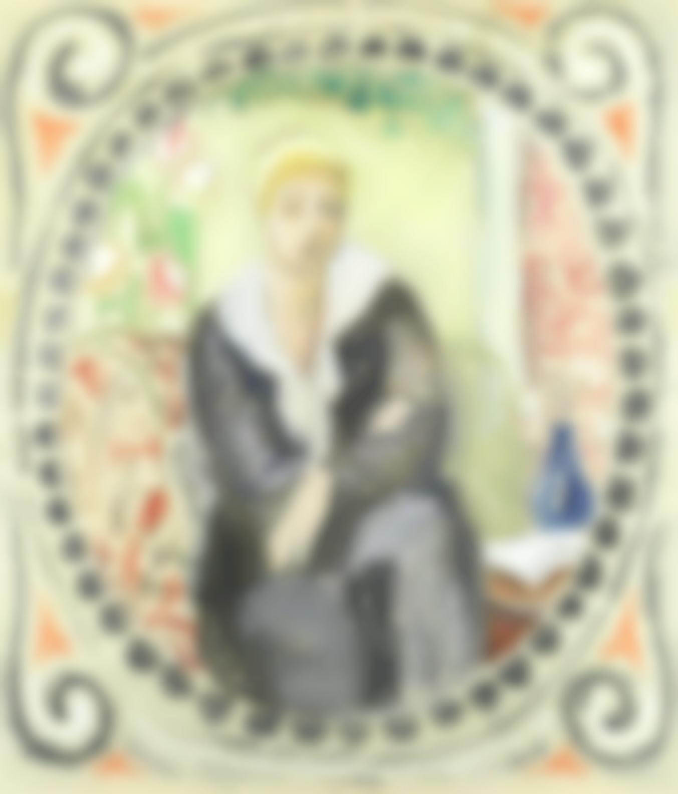 Vanessa Bell - Portrait Of A Seated Lady-