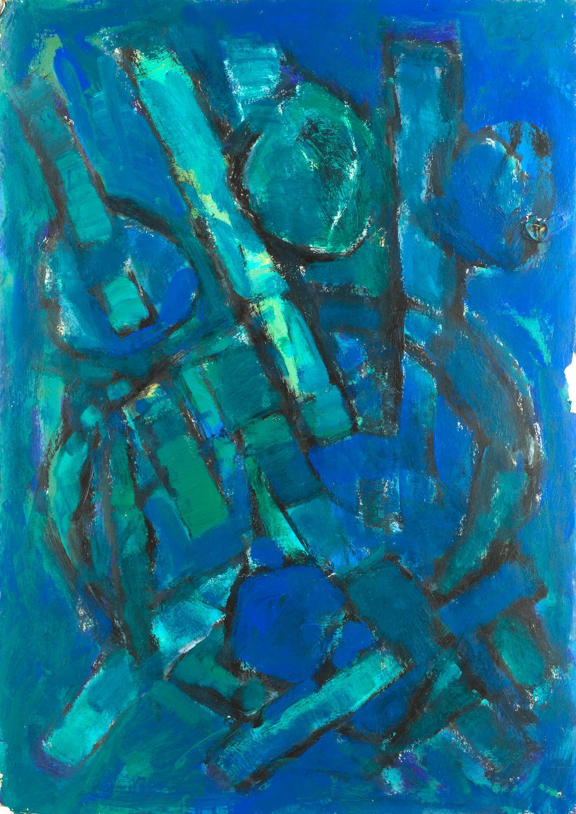 Frank Avray Wilson - Untitled, Blue And Green-