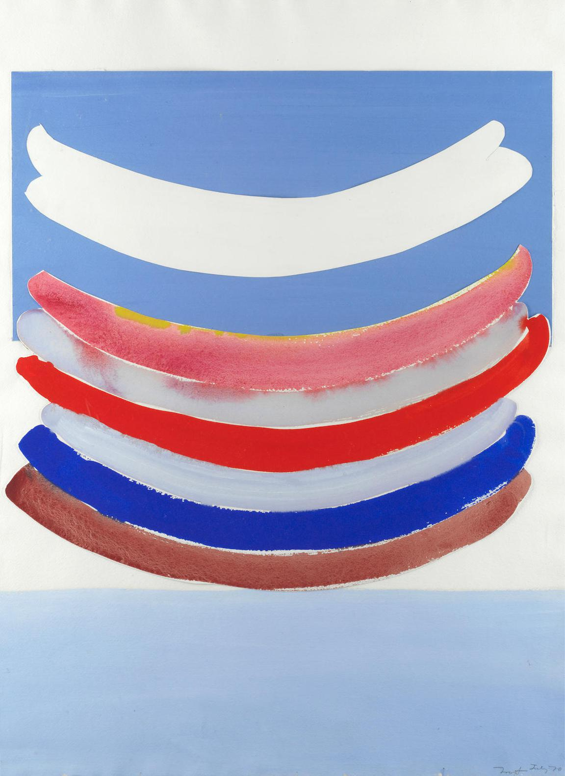 Terry Frost - Untitled - Blue, Red And White-1970