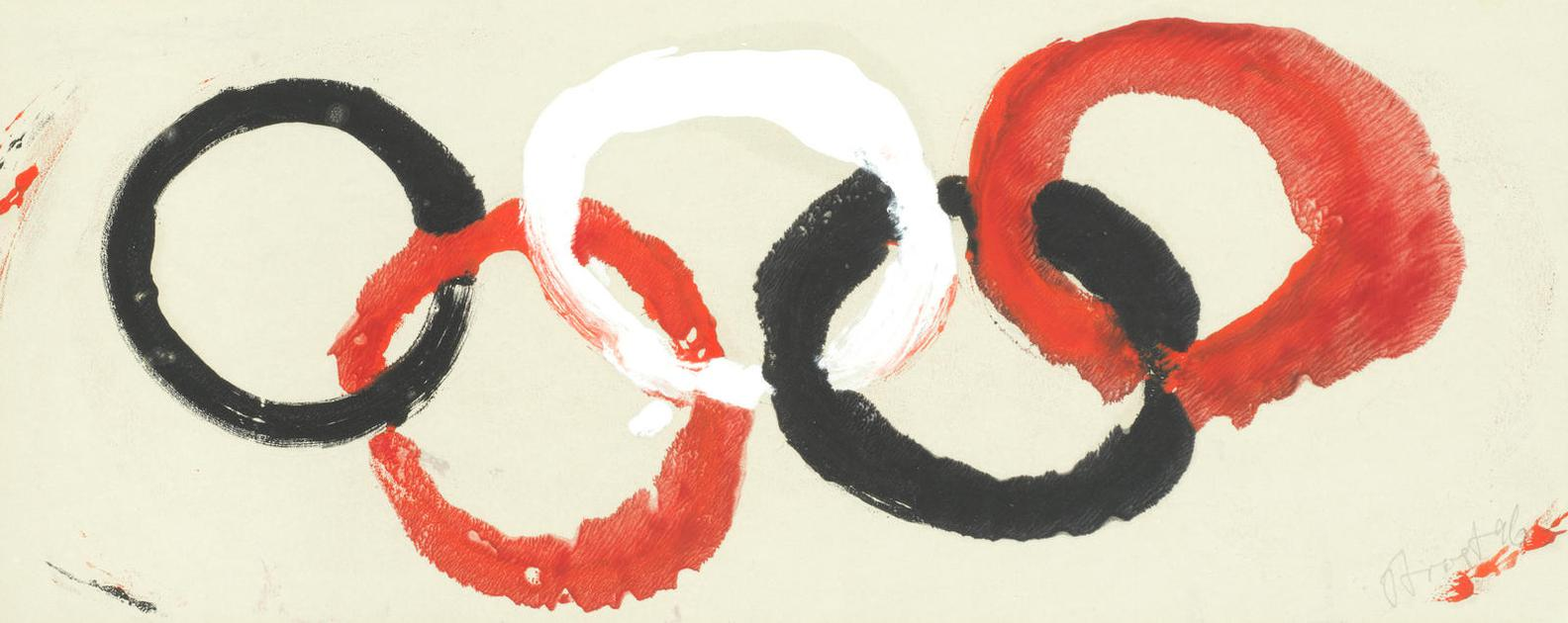 Terry Frost - Circles, Red, White And Black-1996