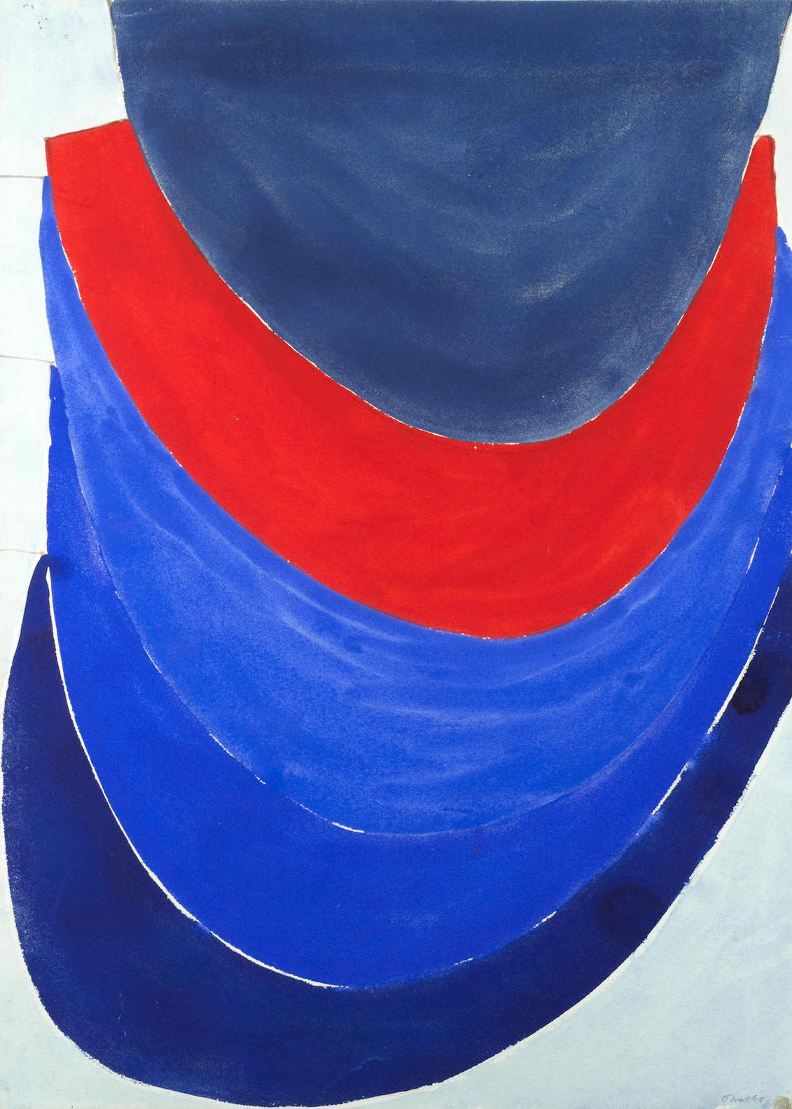 Terry Frost - Untitled, Blue And Red-1968