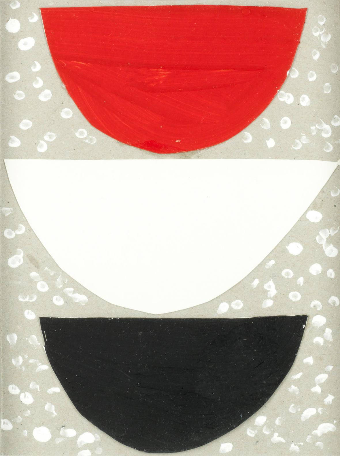 Terry Frost - Semi-Circles Red, White And Black-
