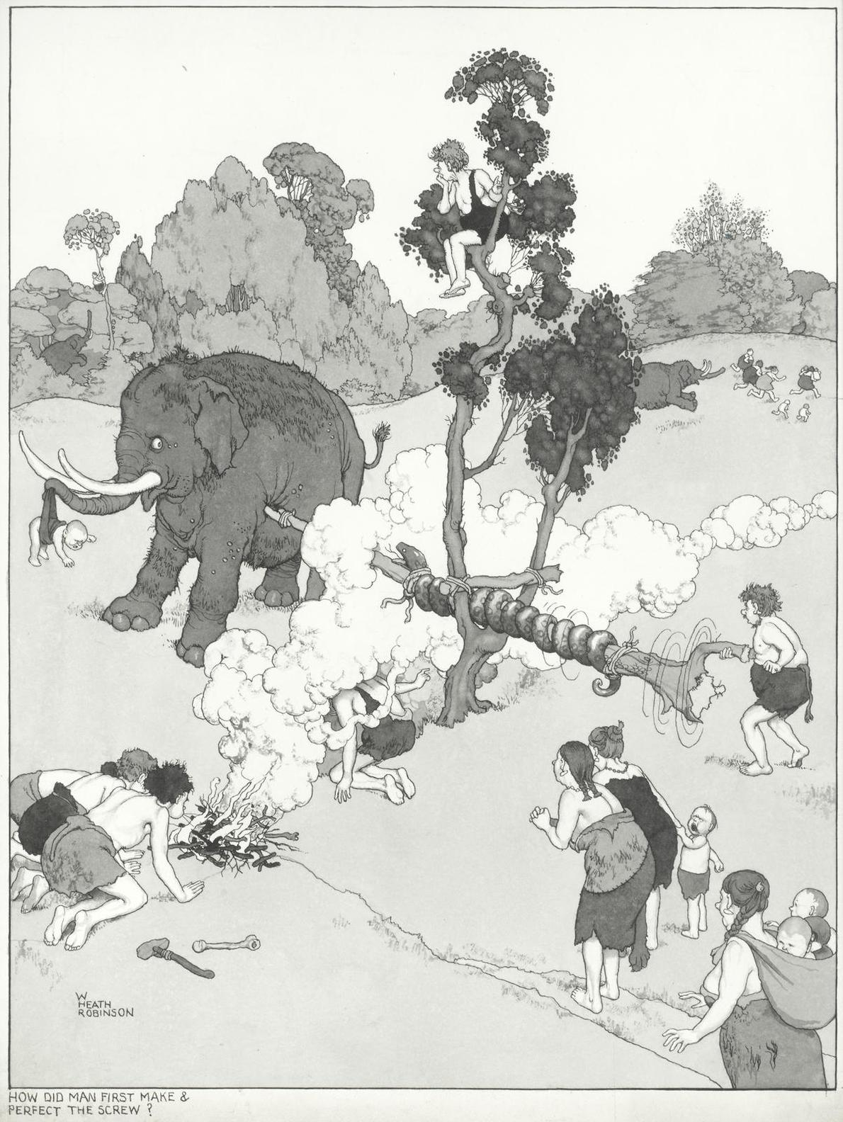 William Heath Robinson - How Did Man First Make & Perfect The Screw?-