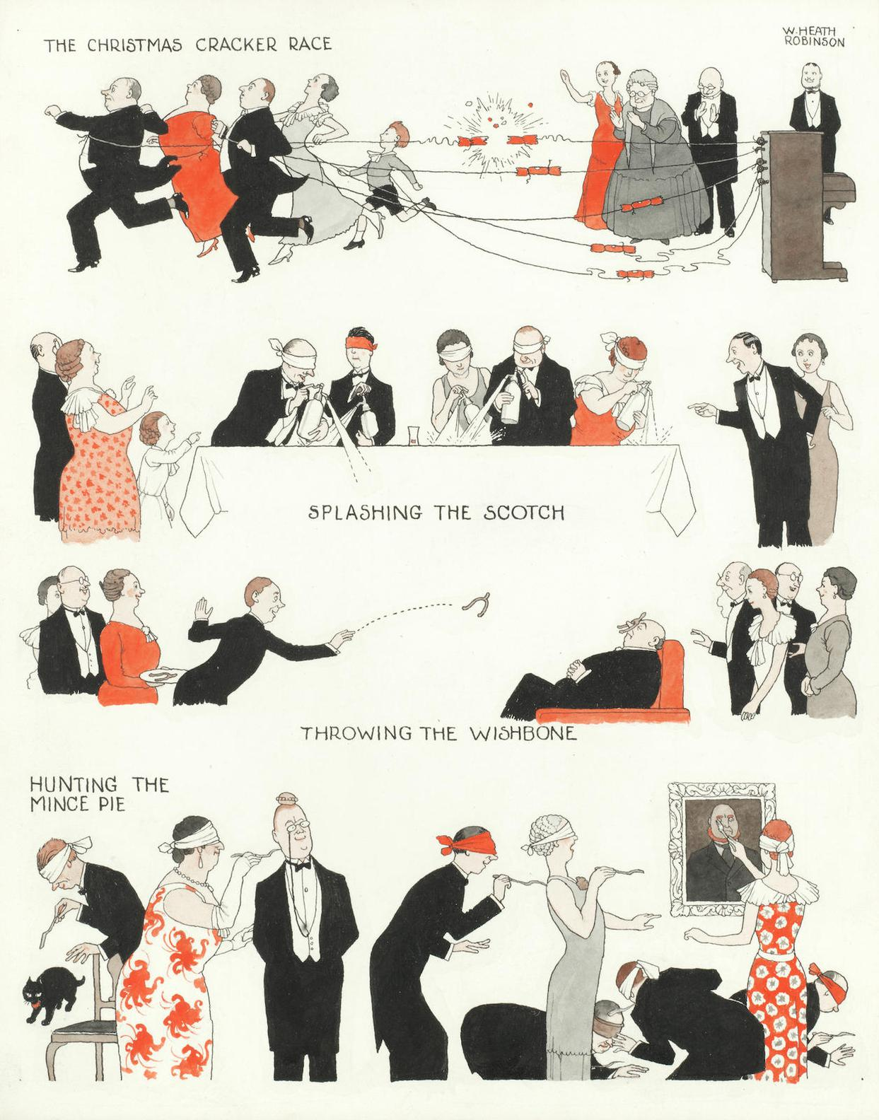 William Heath Robinson - New Christmas Games-