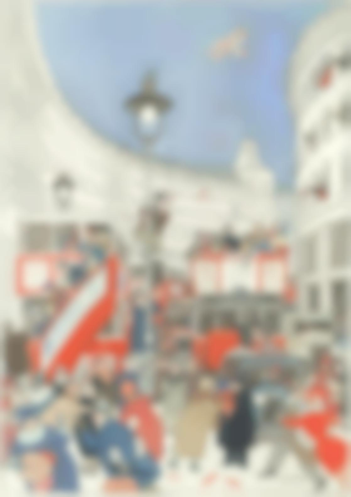 William Heath Robinson - The Spirit Of Christmas In Regent Street-