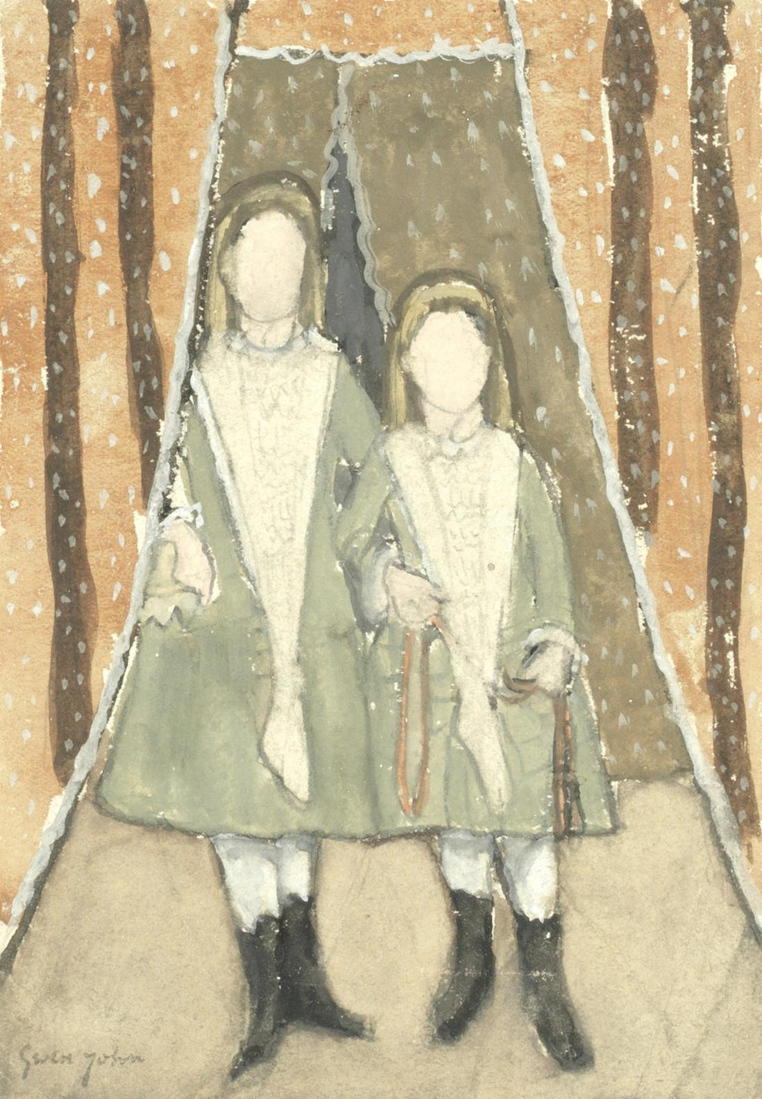 Gwen John - The Victorian Sisters-1933